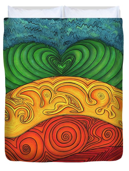 Chakra Ascension Duvet Cover by Deborha Kerr