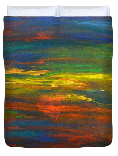 Chakra Energy With Heart Duvet Cover