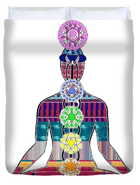 Chakra Yoga Mandala  Buy Faa Print Products Or Down Load For Self Printing Navin Joshi Rights Manage Duvet Cover