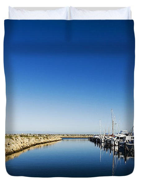 Challenger Harbour Of Fremantle Duvet Cover