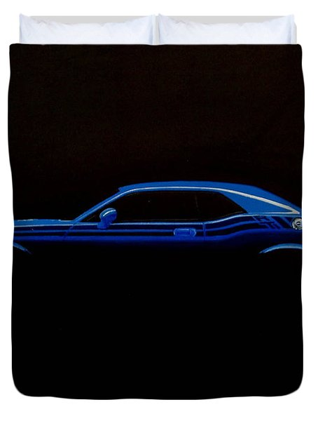 Challenger Silhouette Duvet Cover by Paul Kuras