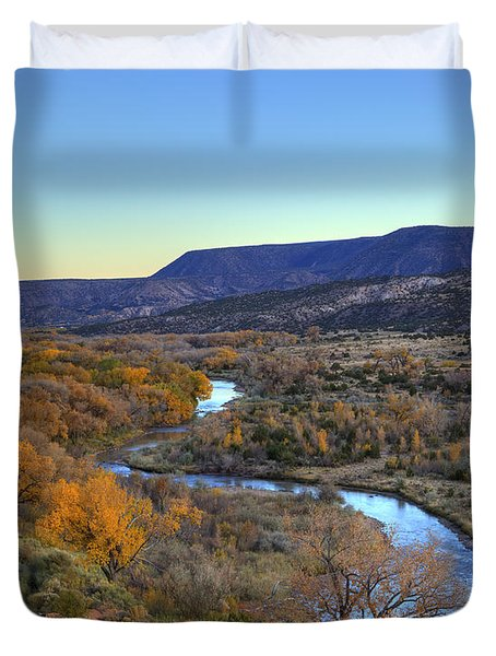 Chama River At Sunset Duvet Cover