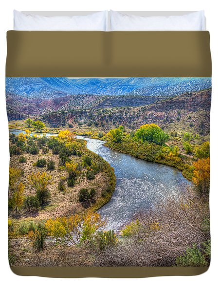 Chama River Overlook Duvet Cover