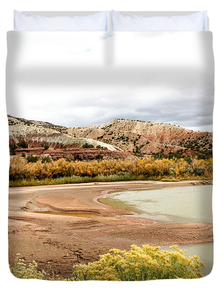 Duvet Cover featuring the photograph Chama River Swim Spot by Roselynne Broussard