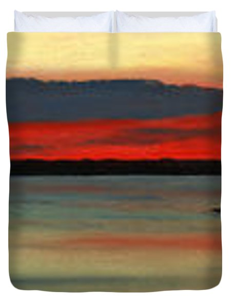 Chambers Island Sunset II Duvet Cover