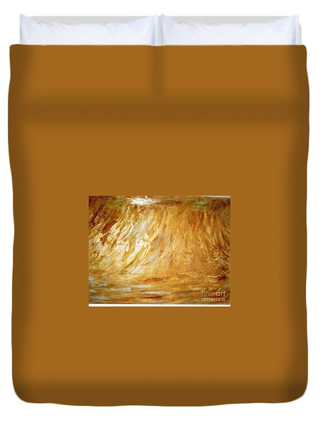 Duvet Cover featuring the painting Champ De Ble' by Fereshteh Stoecklein