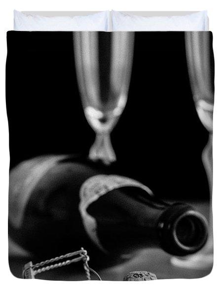 Champagne Bottle Still Life Duvet Cover