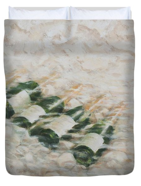 Champagne Cooling Duvet Cover by Lincoln Seligman