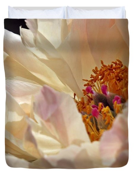 Champagne Peony Duvet Cover