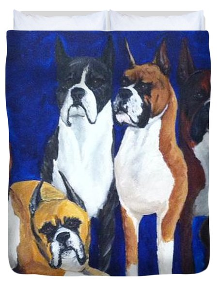 Duvet Cover featuring the painting Champions by Vonda Lawson-Rosa