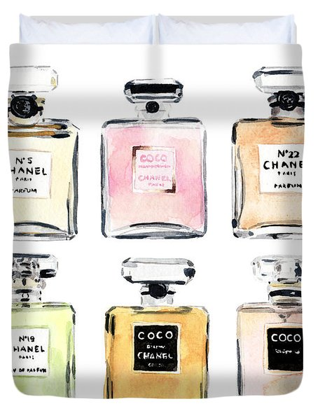 Chanel Perfumes Duvet Cover