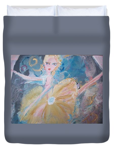 Changement Ballet Duvet Cover by Judith Desrosiers