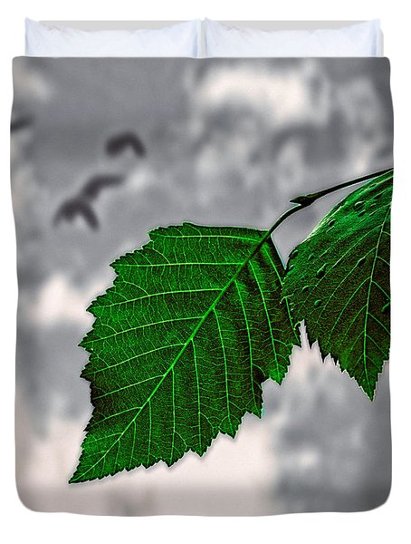 Changes Duvet Cover by Bob Orsillo