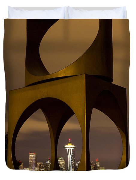 Changing Form Of Seattle Duvet Cover