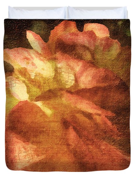 Duvet Cover featuring the digital art Chanson D'amour by Lianne Schneider