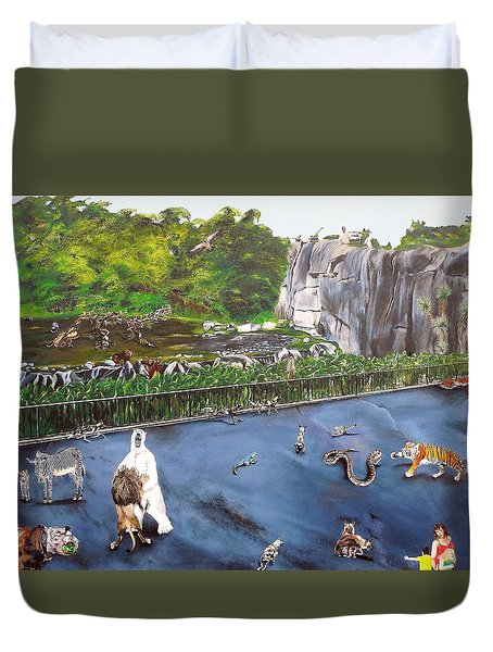 Chaos At The Garden Duvet Cover