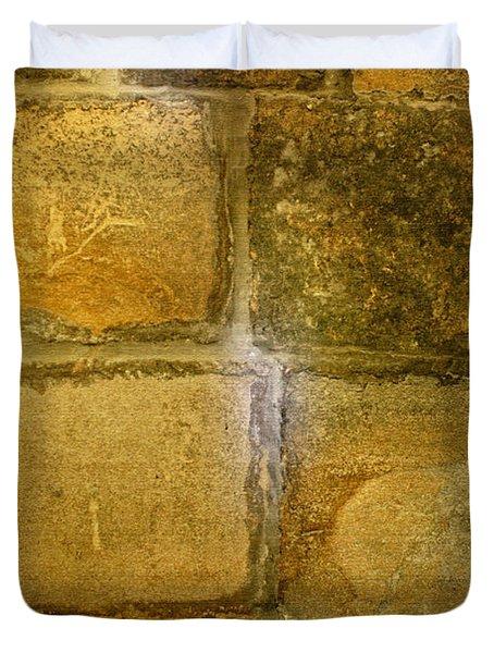 Chapel Floor In Mont-st-michel Duvet Cover