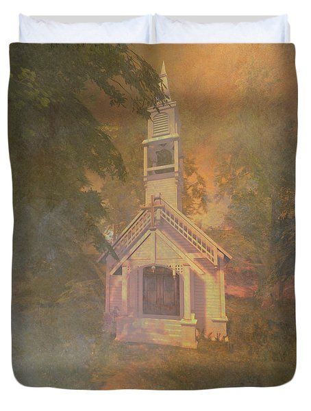 Chapel In The Wood Duvet Cover