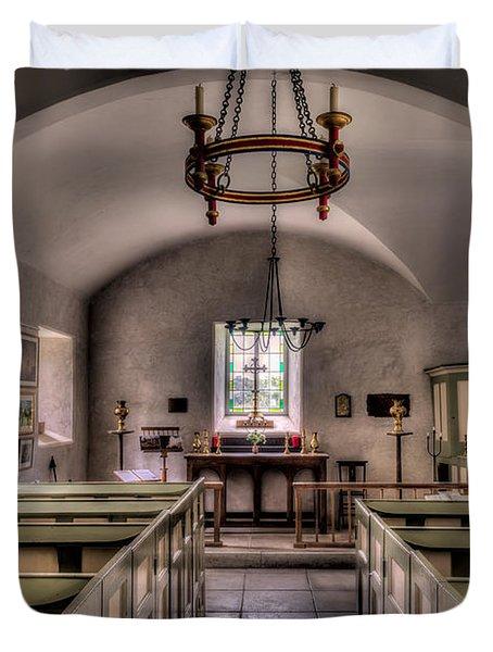 Chapel In Wales Duvet Cover by Adrian Evans