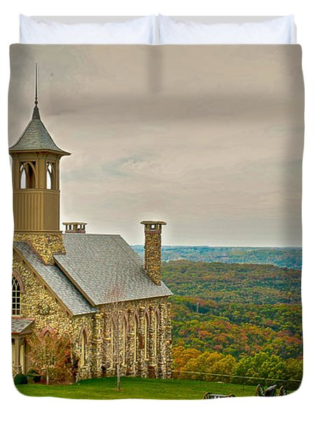 Chapel Of The Ozarks Duvet Cover