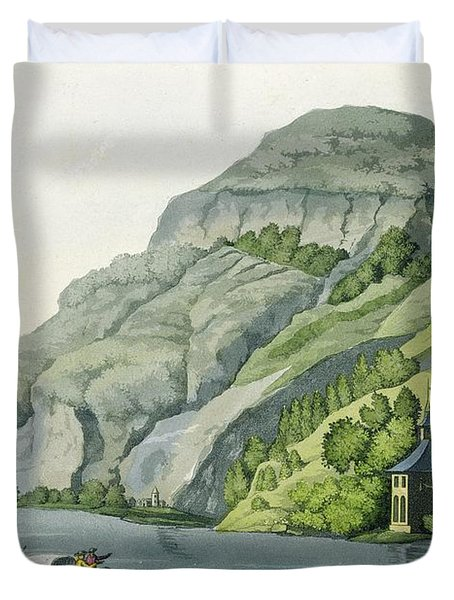Chapel Of William Tell, From Customs Duvet Cover by Vittorio Raineri