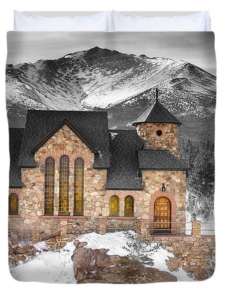 Chapel On The Rock Bwsc Duvet Cover