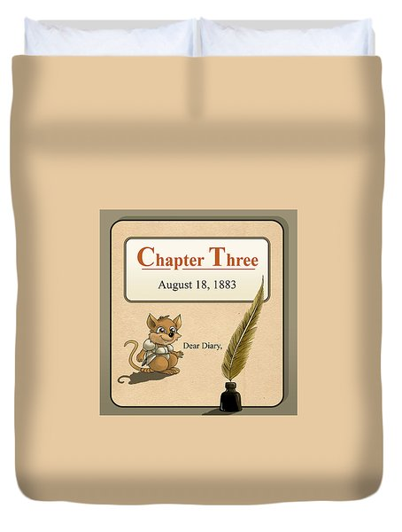 Duvet Cover featuring the painting Chapter Three by Reynold Jay