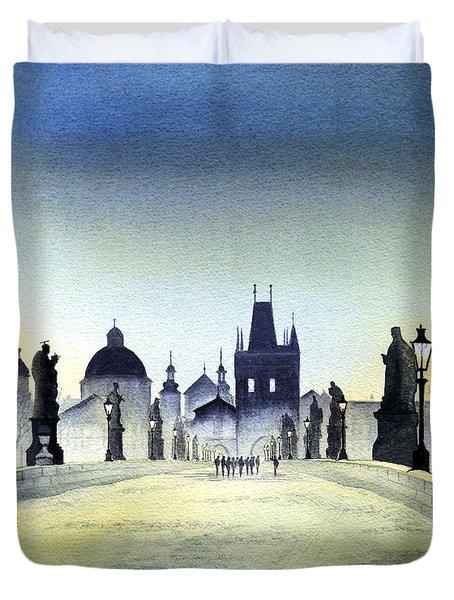 Charles Bridge Duvet Cover by Bill Holkham