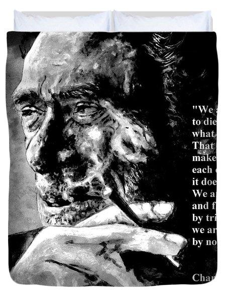 Charles Bukowski Duvet Cover