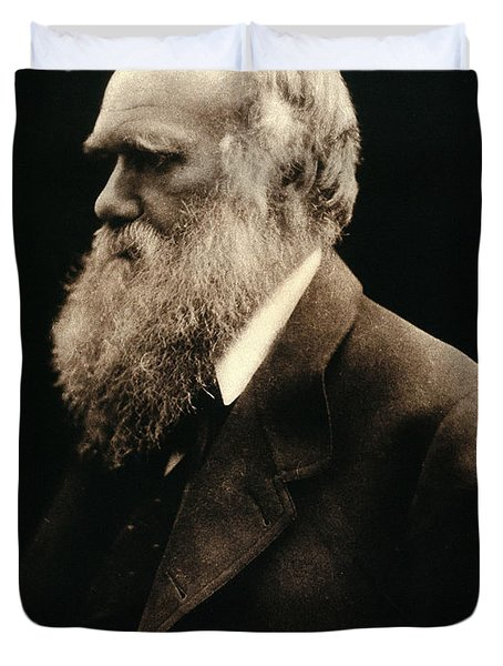 Charles Darwin By Julia Margaret Duvet Cover by Wellcome Images