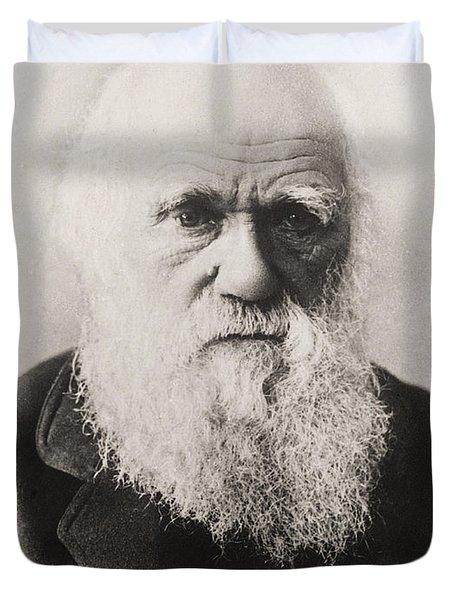 Charles Darwin Duvet Cover by English School