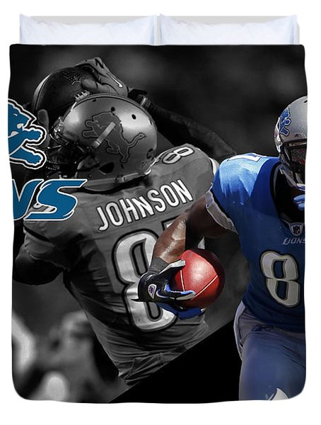 Calvin Johnson Lions Duvet Cover