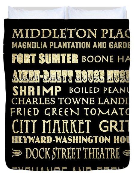 Charleston Sc Famous Landmarks Duvet Cover