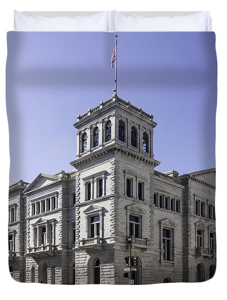 Charleston Post Office And Courthouse Duvet Cover by Lynn Palmer