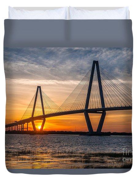 Charleston Sun Setting  Duvet Cover