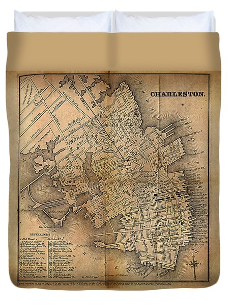 Charleston Vintage Map No. I Duvet Cover
