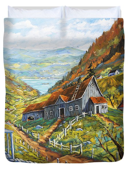 Charlevoix Valley By Prankearts Duvet Cover by Richard T Pranke