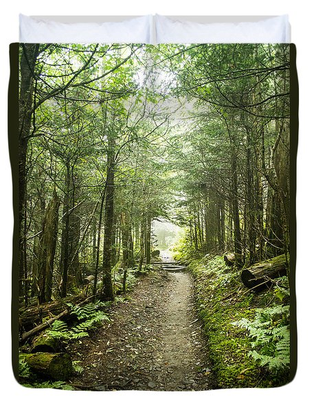 Duvet Cover featuring the photograph Charlies Bunion Bald Trail by Debbie Green