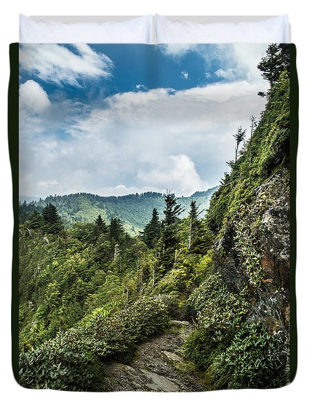 Duvet Cover featuring the photograph Charlies Bunion Trail by Debbie Green