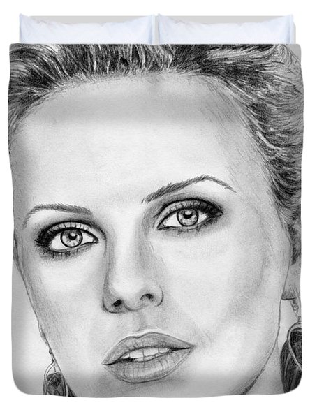 Charlize Theron In 2008 Duvet Cover by J McCombie