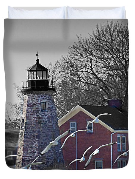 The Charlotte Genesee Lighthouse Duvet Cover by Richard Engelbrecht