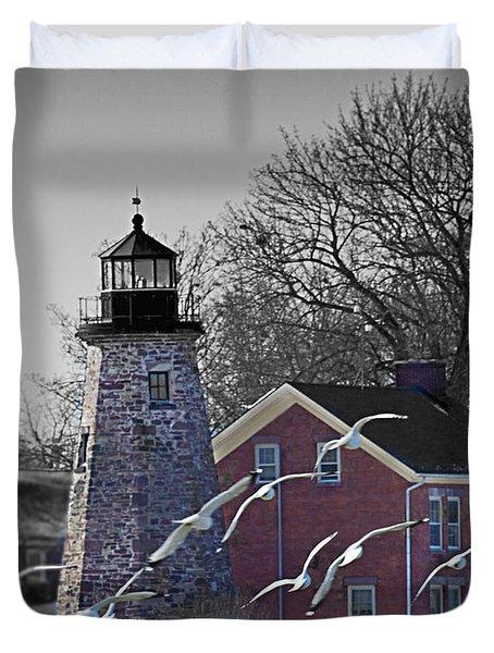 The Charlotte Genesee Lighthouse Duvet Cover