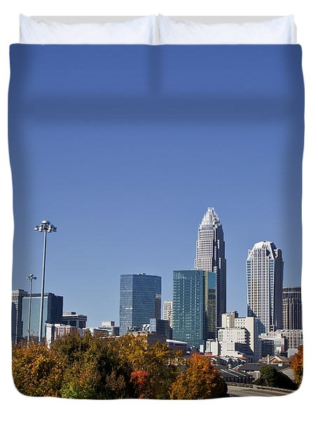 Charlotte North Carolina Duvet Cover