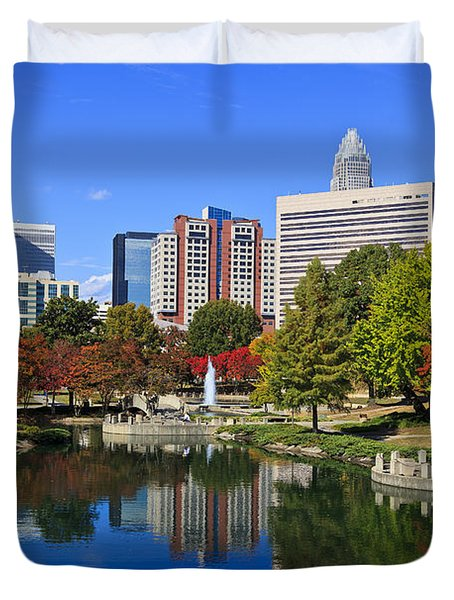 Charlotte North Carolina Marshall Park Duvet Cover
