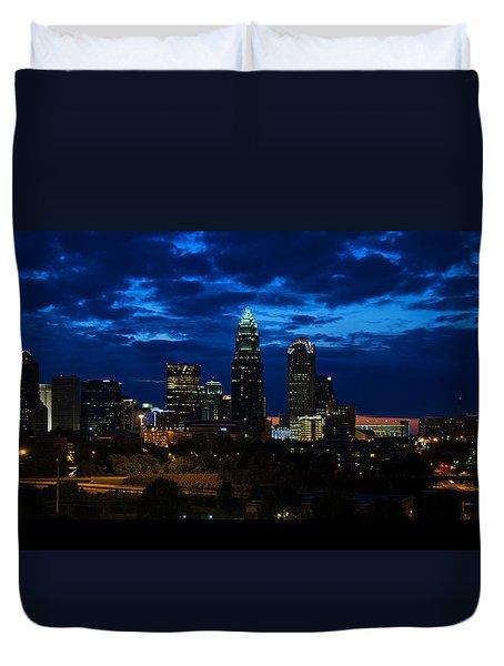 Charlotte North Carolina Panoramic Image Duvet Cover