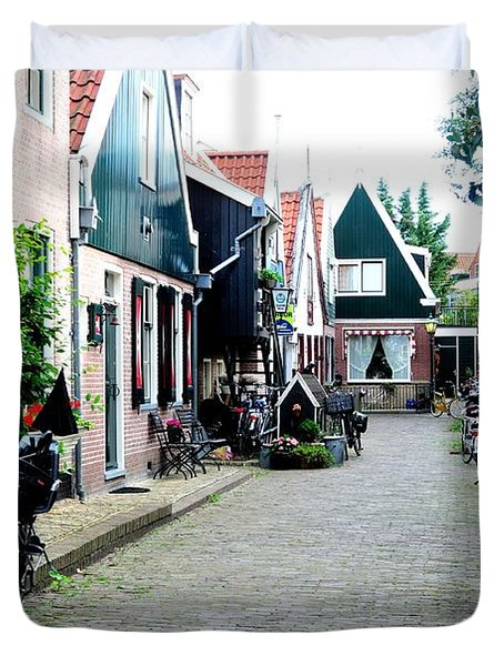 Duvet Cover featuring the photograph Charming Dutch Village by Joe  Ng
