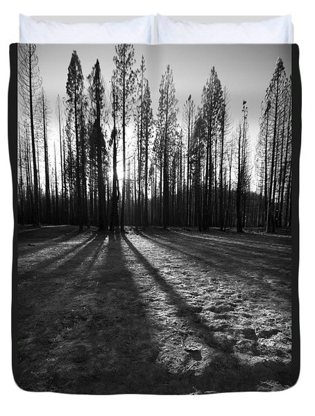 Charred Silence - Yosemite Rm Fire 2013 Duvet Cover