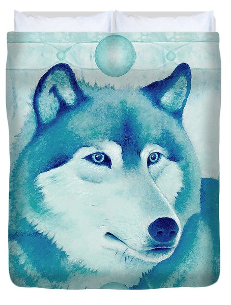 Chasing Wolf Duvet Cover