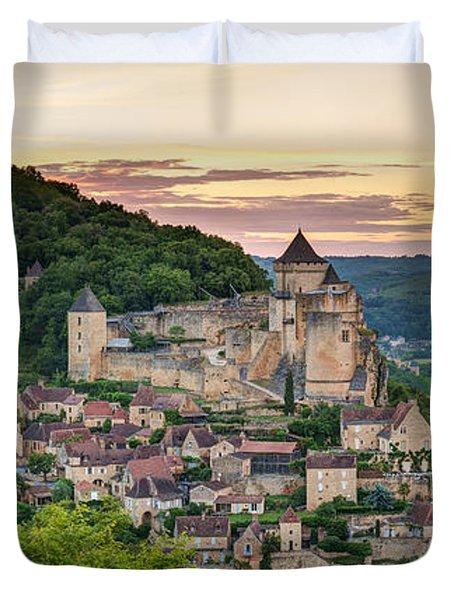 Chateau De Castelnaud Castle Duvet Cover