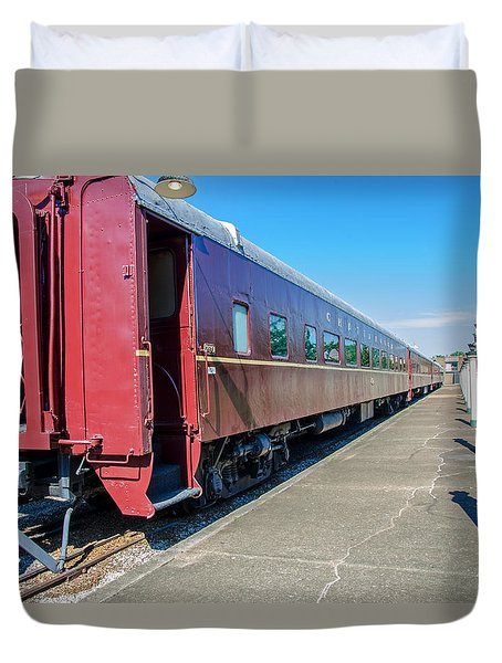 Duvet Cover featuring the photograph Chattanooga Choo Choo 1 by Susan  McMenamin